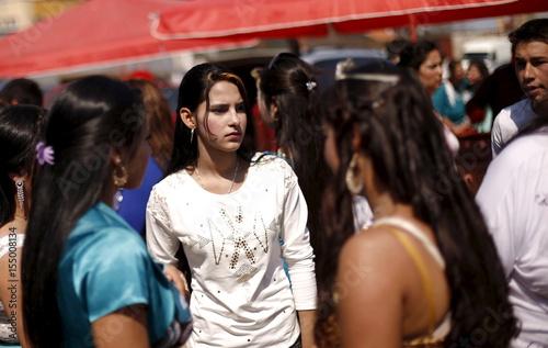 Bulgarian Roma Women From The Close Knit Kalaidjii Clan Attend A So