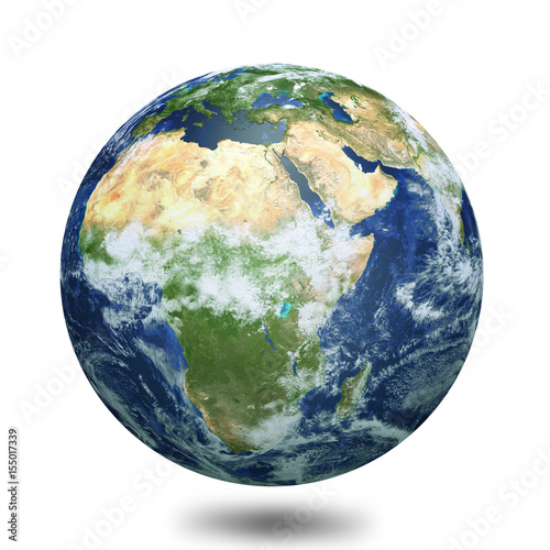 Earth globe 3d render Canvas Print