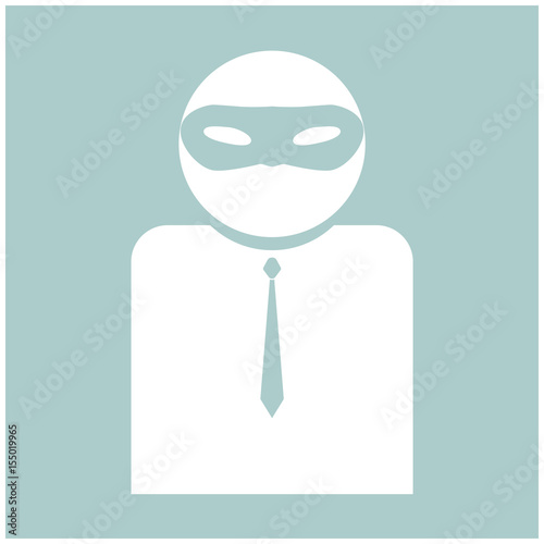 Fotografía  The man incognito in a mask the white color icon .