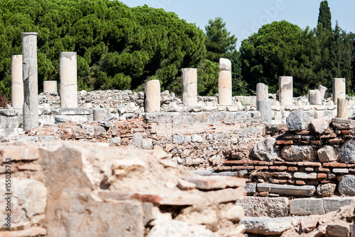 In de dag Rudnes Ephesus ruins
