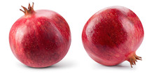 Pomegranate. Fresh Raw Fruit Isolated On White Background. Collection. With Clipping Path. Full Depth Of Field.