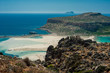 Balos Beach, Greece, Crete. View from hill above the bay
