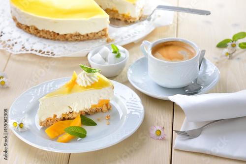 Kuchen Ohne Backen Mango Frischkasekuchen Mit Boden Aus Kekskrumeln