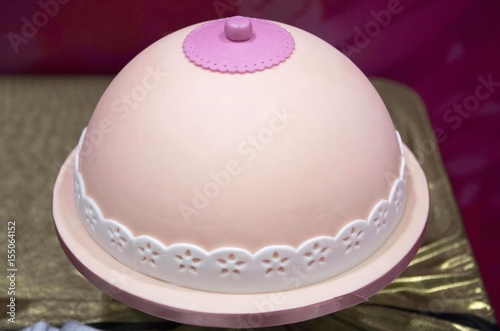 Tremendous A Cake Decorated Like A Breast Is Displayed At The Cake And Bake Personalised Birthday Cards Beptaeletsinfo