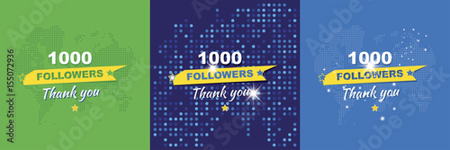Thank you for 1000 followers Fototapet