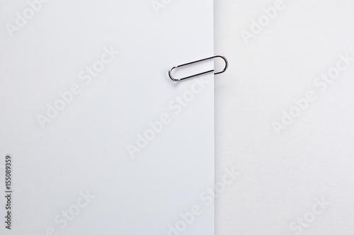 Fotografie, Obraz  Paper clip on a white background