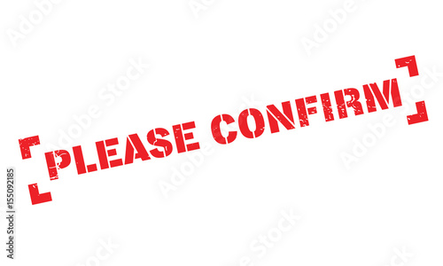 Please Confirm rubber stamp Canvas Print