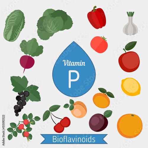Photo Vitamin P or Bioflavonoids infographic