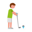 ethlete practicing golf avatar vector illustration design