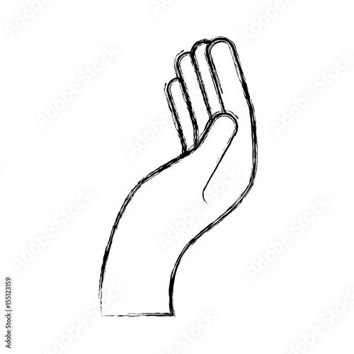 hand human asking icon vector illustration design Canvas Print