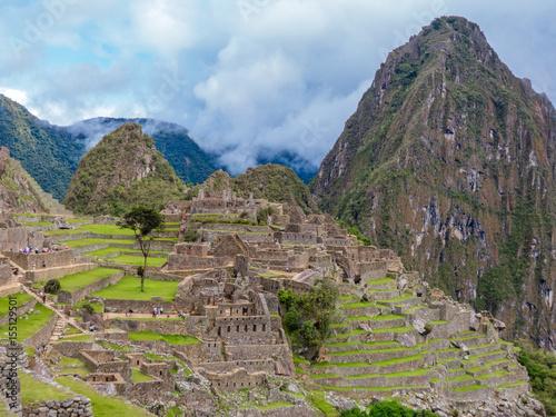 Fotobehang Noord Europa Inkaruinen auf dem Machu Picchu Cusco Peru