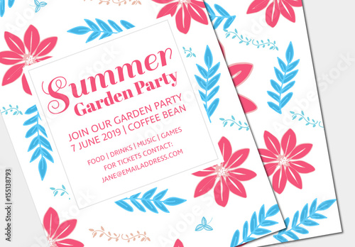 summer party invitation layout 2 buy this stock template and