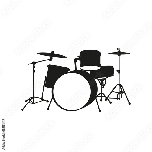 Fotomural drum-type installation on white background