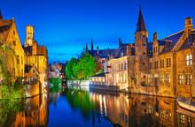 Bruges. Channel Rozenhoedkaai ...