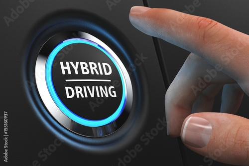 Foto  Button Hybrid Driving - Hand