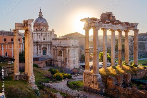 Recess Fitting Rome Scenic view of Roman Forum at sunrise, Rome
