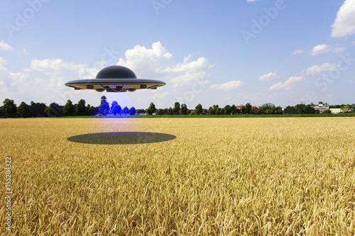 Foto op Canvas UFO An unidentified flying object (ufo 3d rendering)