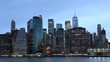 4K UltraHD Day to night timelapse of lower Manhattan skyline