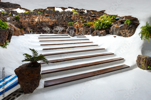Deurstickers Canarische Eilanden Jameos del Agua, Lanzarote, Canary Islands, Spain