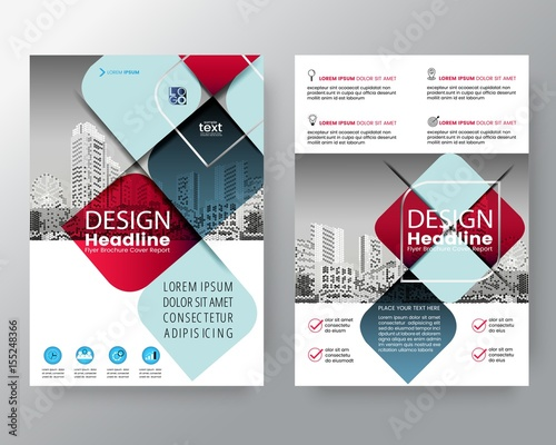 Abstract Red And Blue Cross Graphic Element Vector Brochure