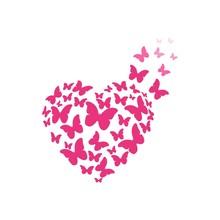 Butterfly Heart Vector Illustr...