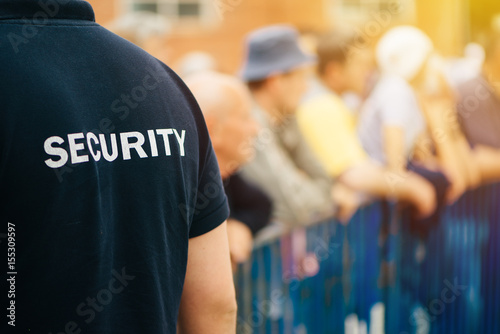 Fotografía  Member of security guard team on public event