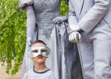 Child With Living Statues