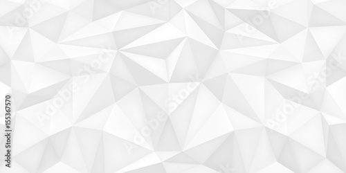 Low Polygon Shapes White Background Light Crystals Triangles Mosaic Creative Wallpaper