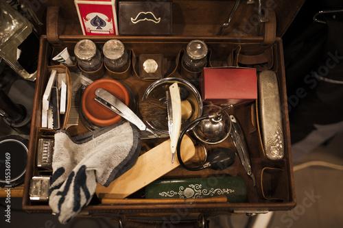 Fotografie, Obraz  Vintage barber tools
