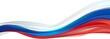 Leinwandbild Motiv Flag of Russia, white blue red flag Russia