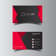 Vector Design Formal Red Modern Business Card