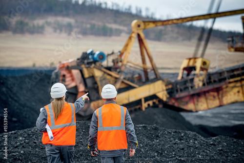Obraz na płótnie Coal mining workers