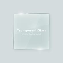 Transparent Vector Glass Squar...