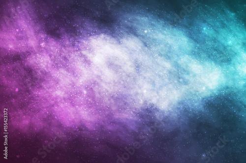 Vector realistic cosmic galaxy background Wallpaper Mural
