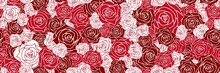 Rose Background. Seamless Patt...