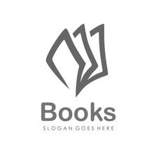 Book Logo Design Vector