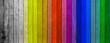 lames de bois colorés
