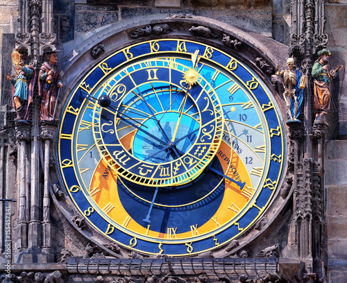 Fotobehang Praag The astrological clock tower