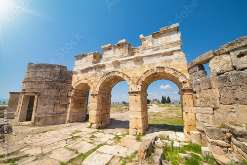 Fotografie, Obraz  Domitian gate in Hierapolis near Pamukkale in Turkey