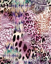 Natural Animal Mix Print - Seamless Background