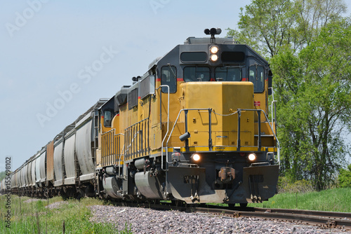 freight train locomotive with freight