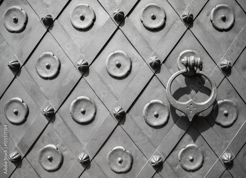 Fototapety, obrazy: Fragment of an ancient metal door texture