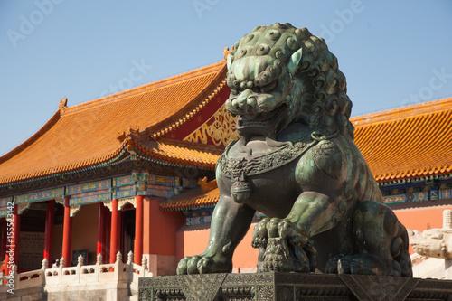 Foto op Aluminium Beijing Chinese guardian lion