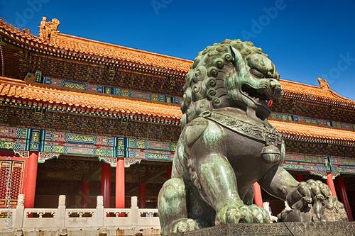 Tuinposter China Chinese guardian lion