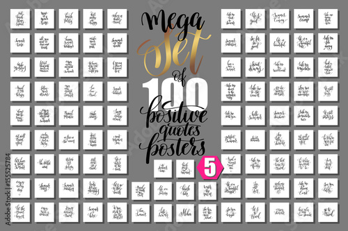 Poster Positive Typography mega set of 100 positive quotes posters about happy summer