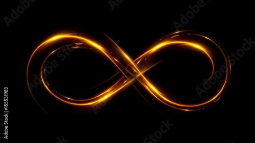 Cuadros en Lienzo Lighting 3d infinity symbol