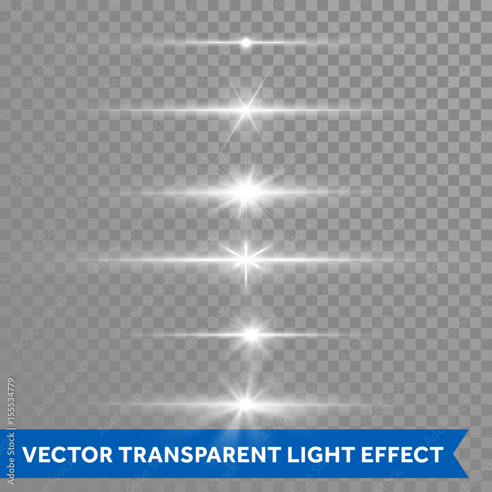 Fototapety, obrazy: Light shine effect or starlight lens flare vector isolated icons transparent background