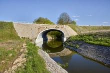Culvert - Drain Under Road For Small River. Big Pipe Under Freeway, Highway Engineering; Roadmaking - Poland , Dabrowka Malborska