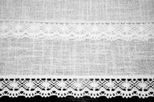 Lacy Lace Texture White Backgr...
