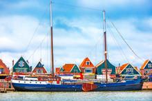 Fishing Village Volendam Panoramic View Holland Netherlands